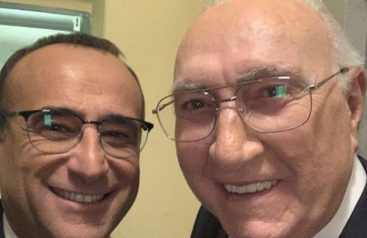 Carlo Conti e Baudo (Instagram)
