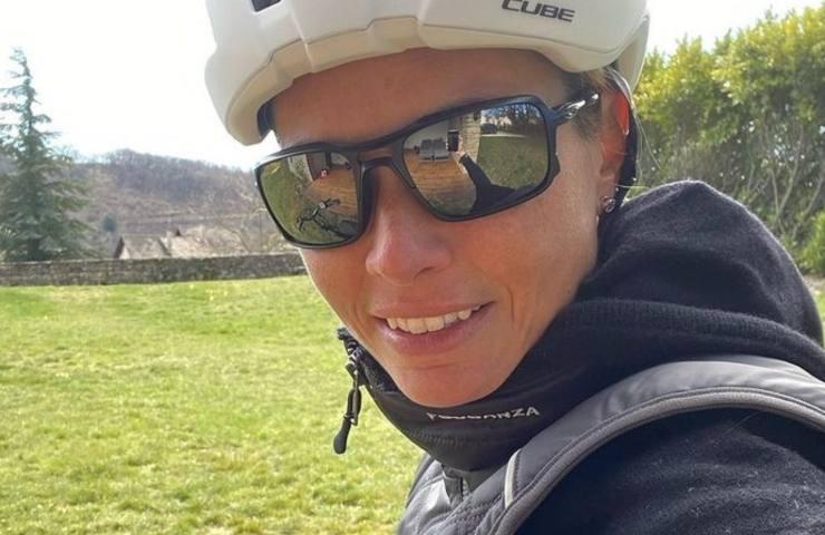 Carlotta Mantovan in bici (Instagram)